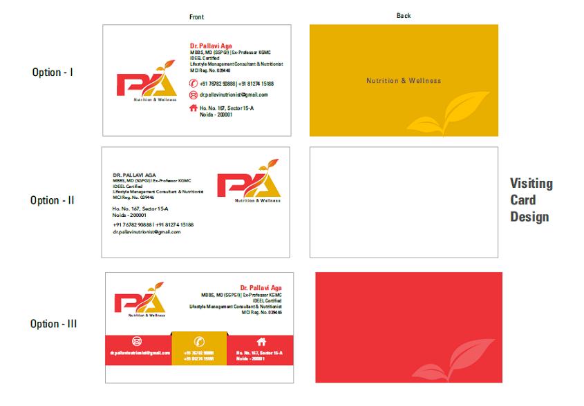 Pallavi Aga nutritionist art work 4 brand identity