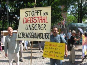 Pankaj Bhushan at Monsanto protest in Munich, Germany