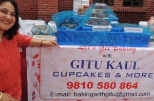 Poster designing, creative, Baking with Gitu, Gitanjali Kaul of The Good Goodies cakes and bakery