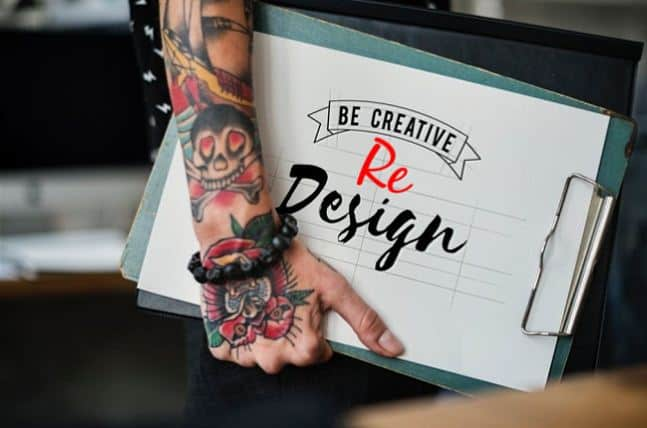 redesigning website