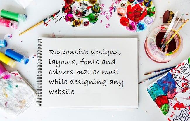 website design, font, colour